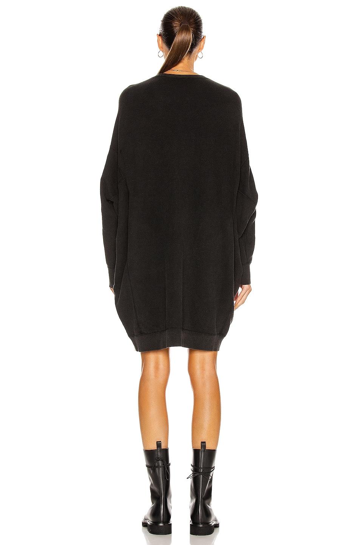 Image 3 of R13 Grunge Sweatshirt Dress in Sand Washed Black