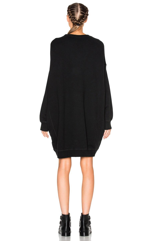 Image 4 of R13 Grunge Sweatshirt Dress in Sand Washed Black