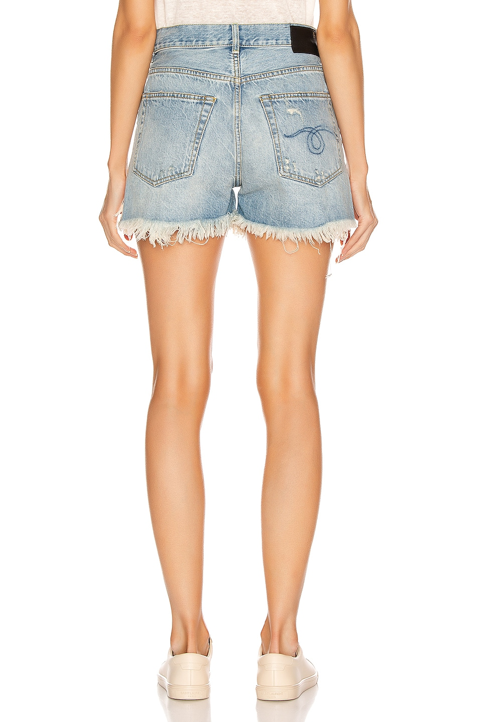 Image 3 of R13 Shredded Slouch Shorts in Tilly