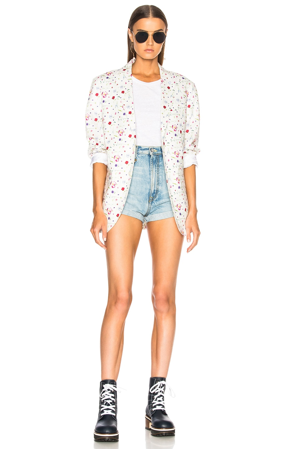 Image 4 of R13 High Rise Hailey Shorts in Tilly
