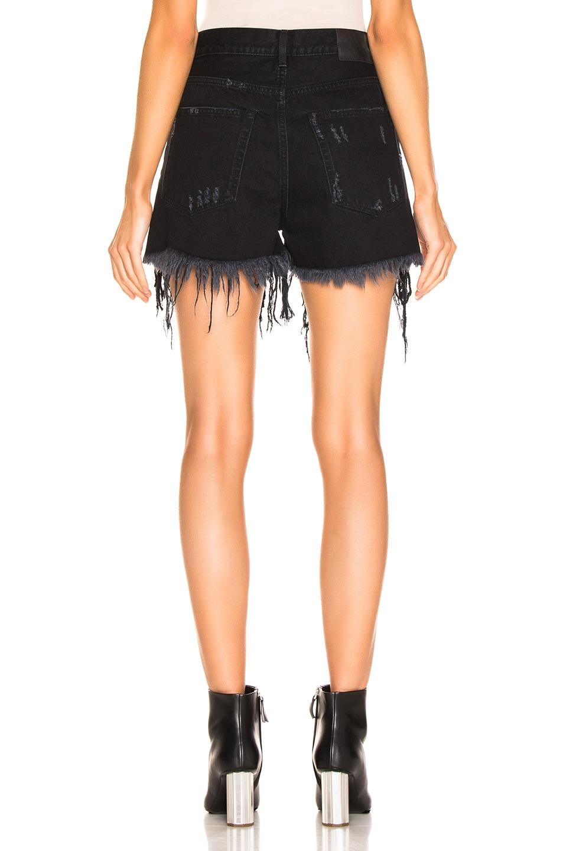 Image 3 of R13 Shredded Sequin Slouch Short in Black