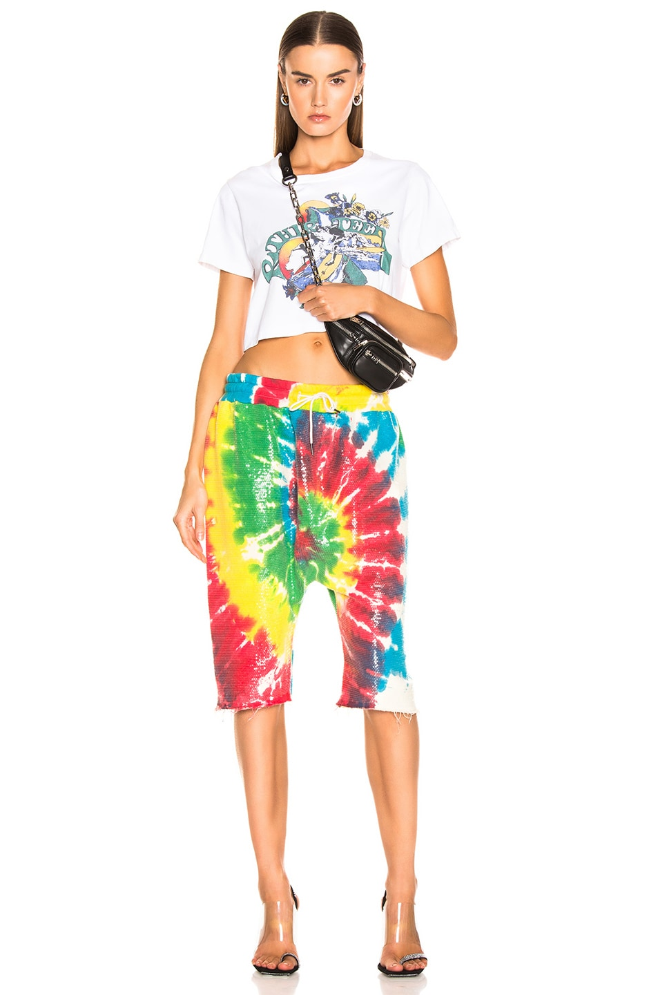 Image 4 of R13 Sequin Tie Dye Sweatshort in Tie Dye
