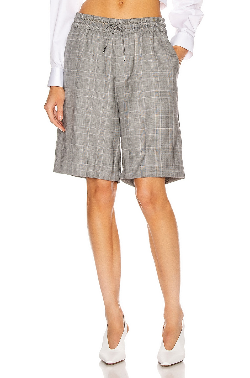 Image 1 of R13 Baggy Short in Grey Plaid