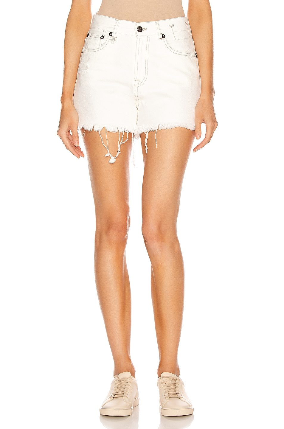 Image 1 of R13 Slouch Short in Nollie White