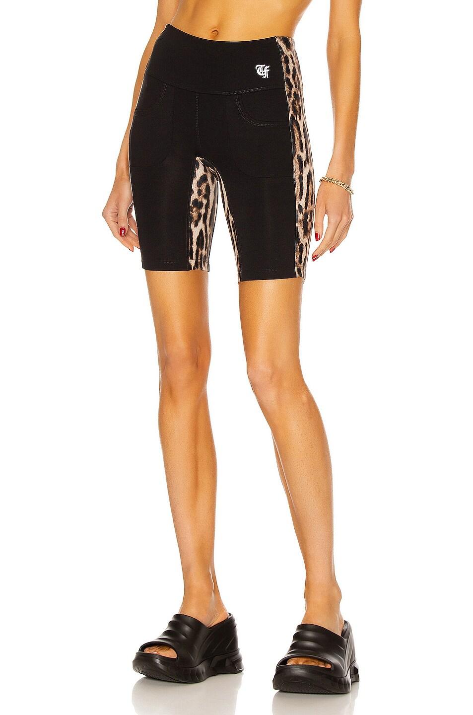 Image 1 of R13 Active Side Stripe Biker Short in Black Combo