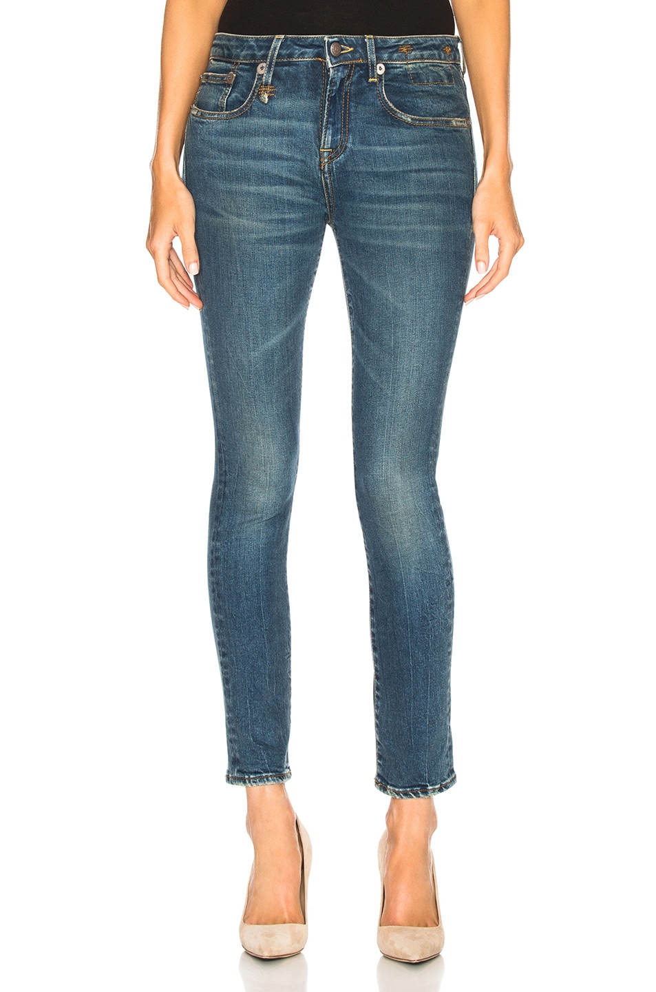 Image 1 of R13 Alison Skinny in Kinsley Stretch