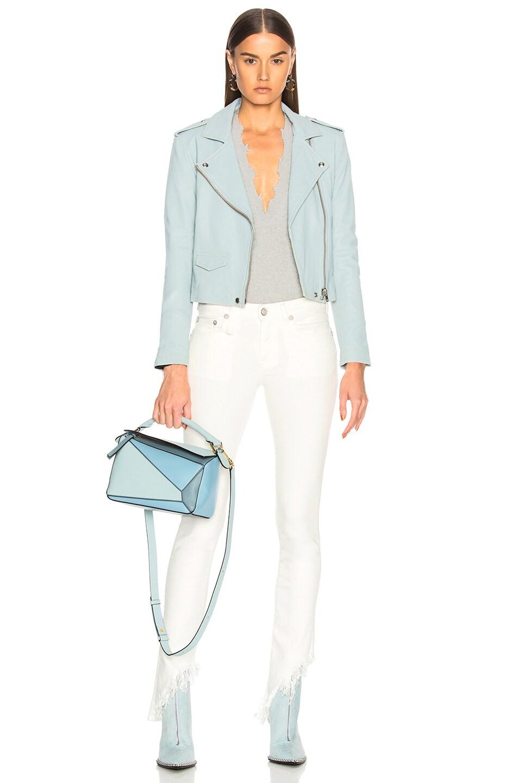 Image 5 of R13 Kate Skinny with Angled Hem in Garret White
