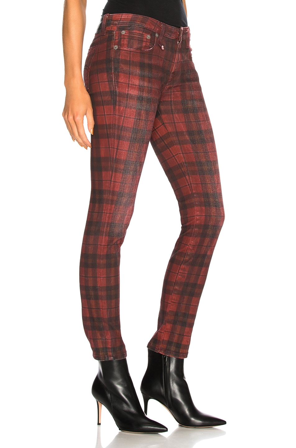 Image 2 of R13 Kate Skinny in Red Plaid