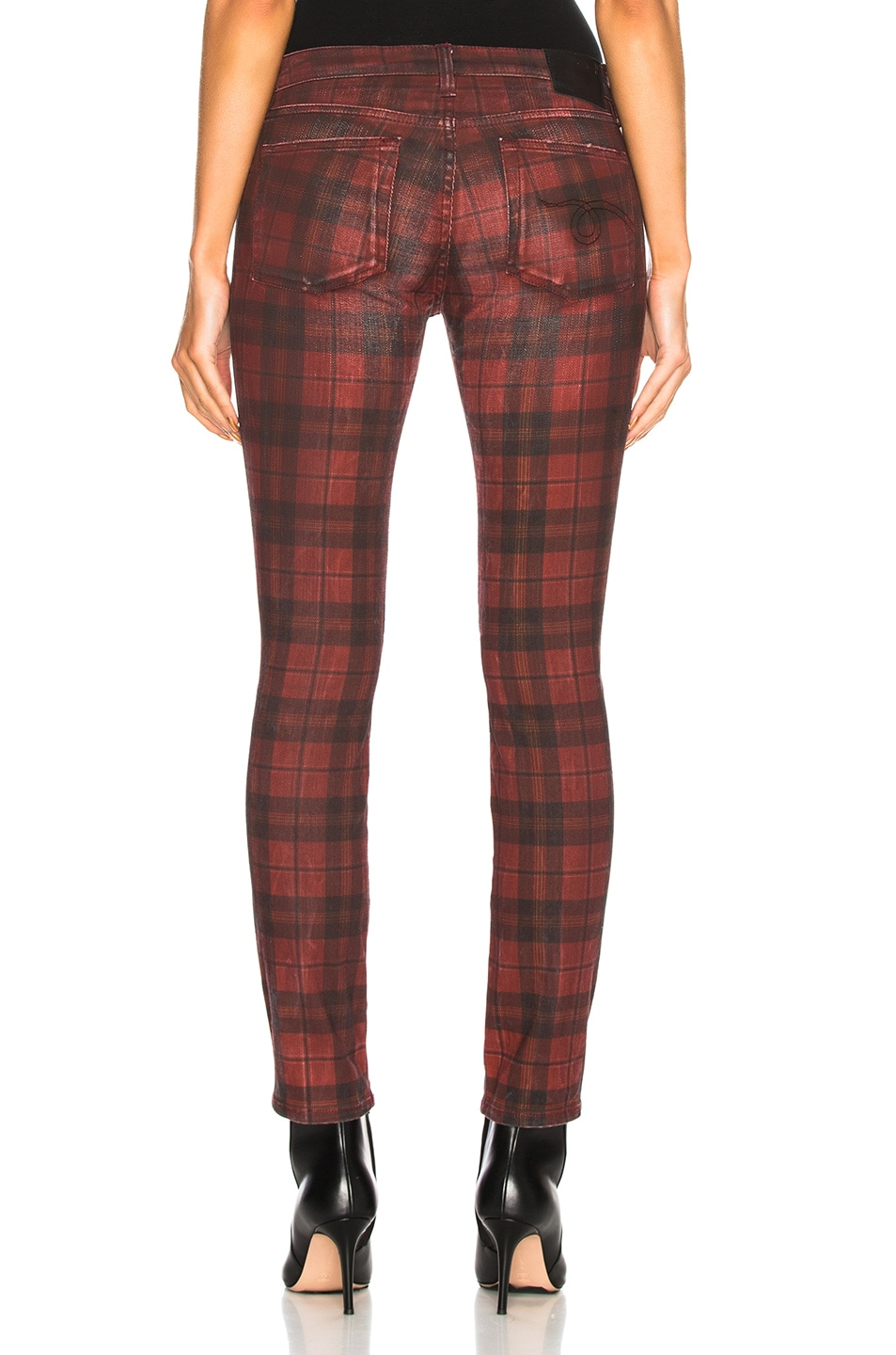 Image 3 of R13 Kate Skinny in Red Plaid