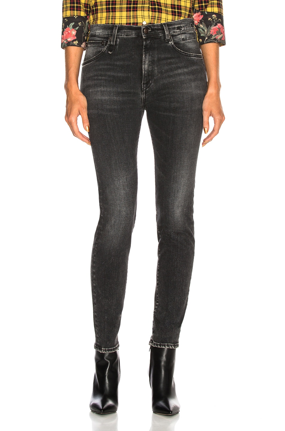 Image 1 of R13 High Rise Skinny in Aiden Black