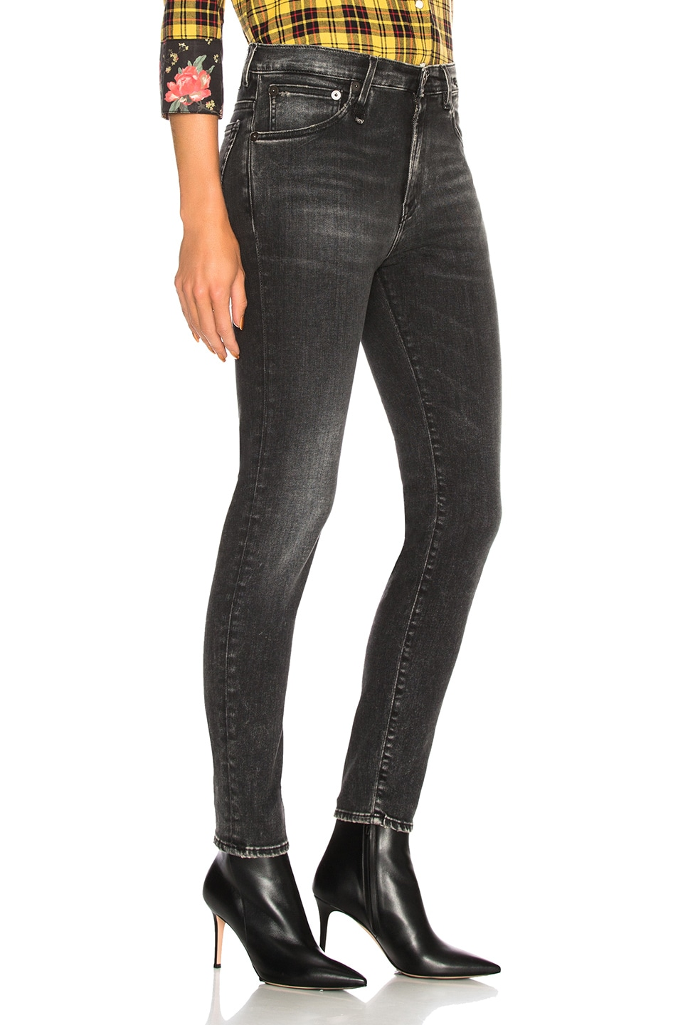 Image 2 of R13 High Rise Skinny in Aiden Black