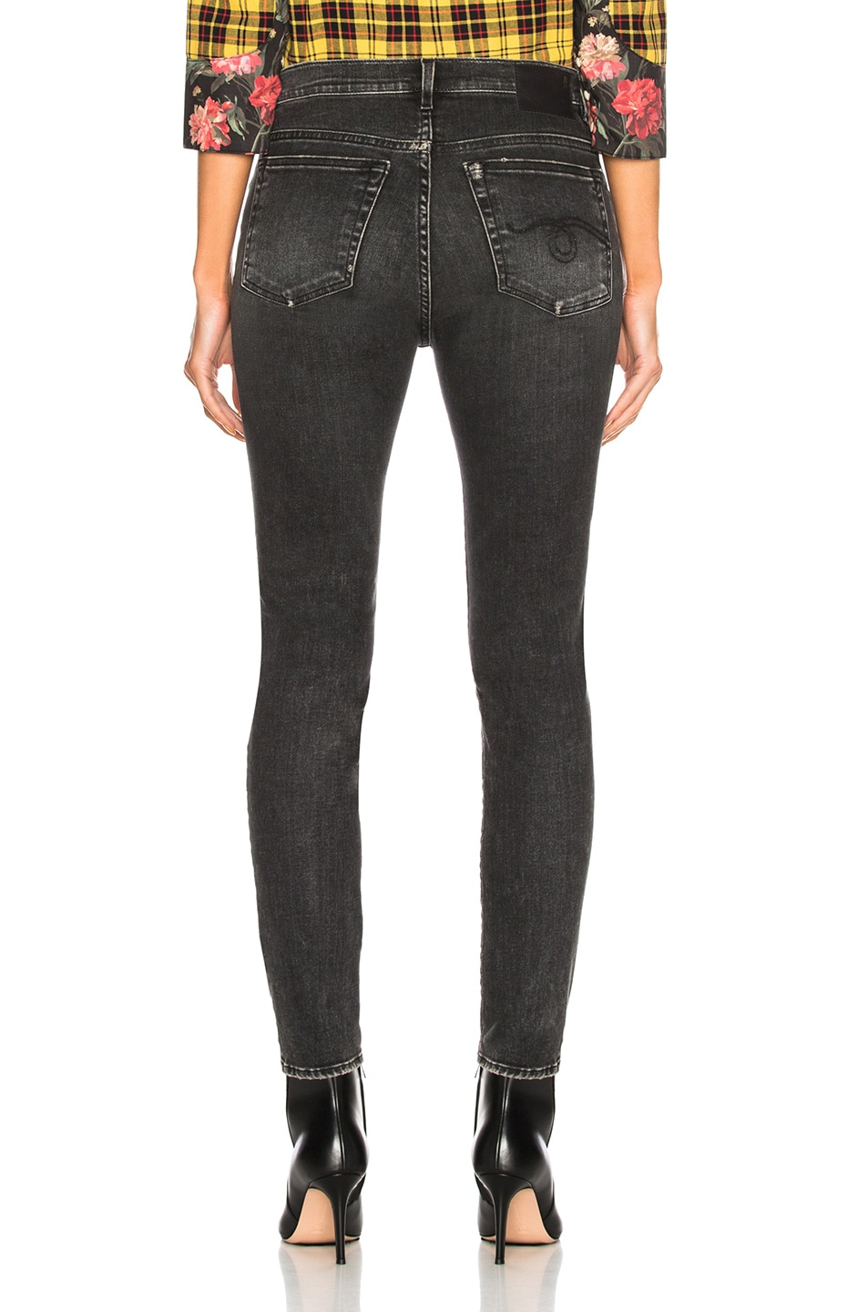 Image 3 of R13 High Rise Skinny in Aiden Black