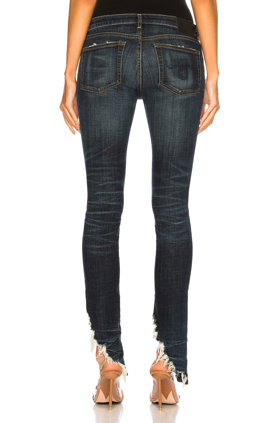 Image 4 of R13 Kate Skinny with Angled Hem in Howell Indigo