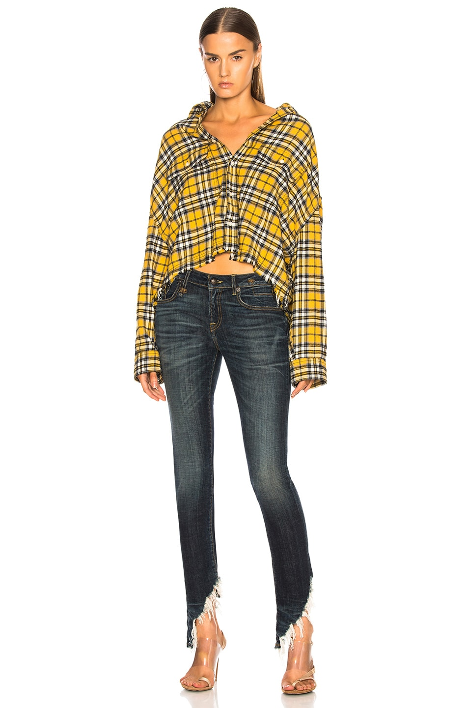 Image 5 of R13 Kate Skinny with Angled Hem in Howell Indigo