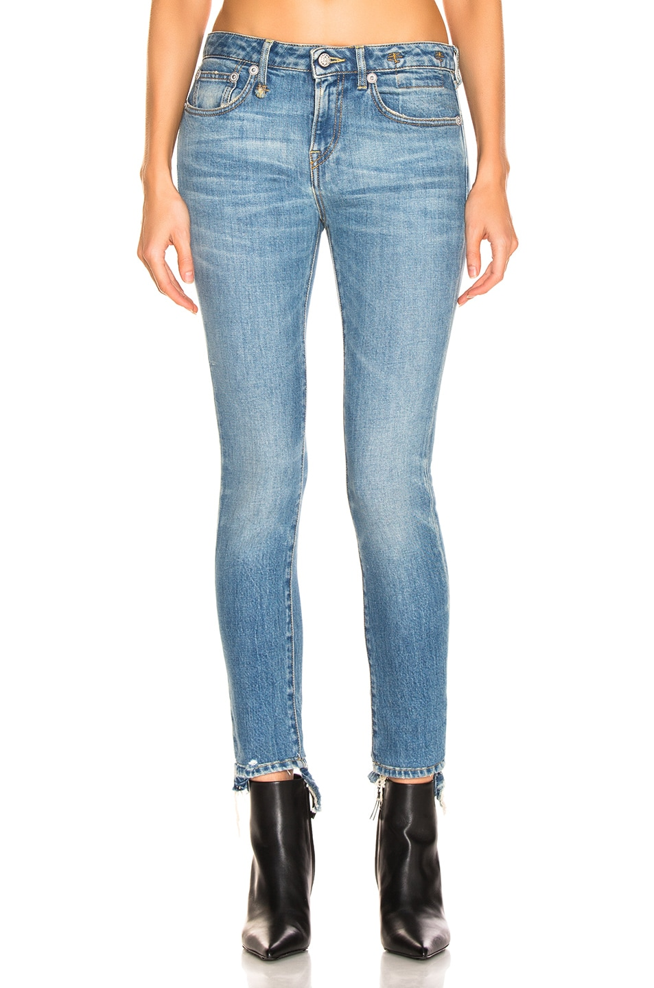 Image 1 of R13 Cropped Alison Skinny in Parker