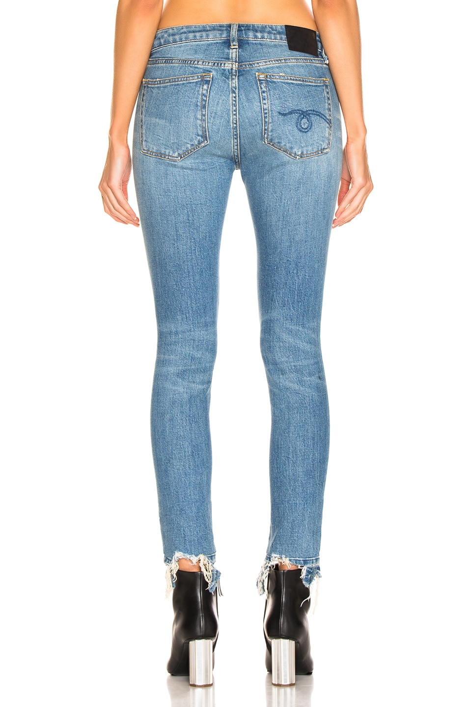 Image 3 of R13 Cropped Alison Skinny in Parker