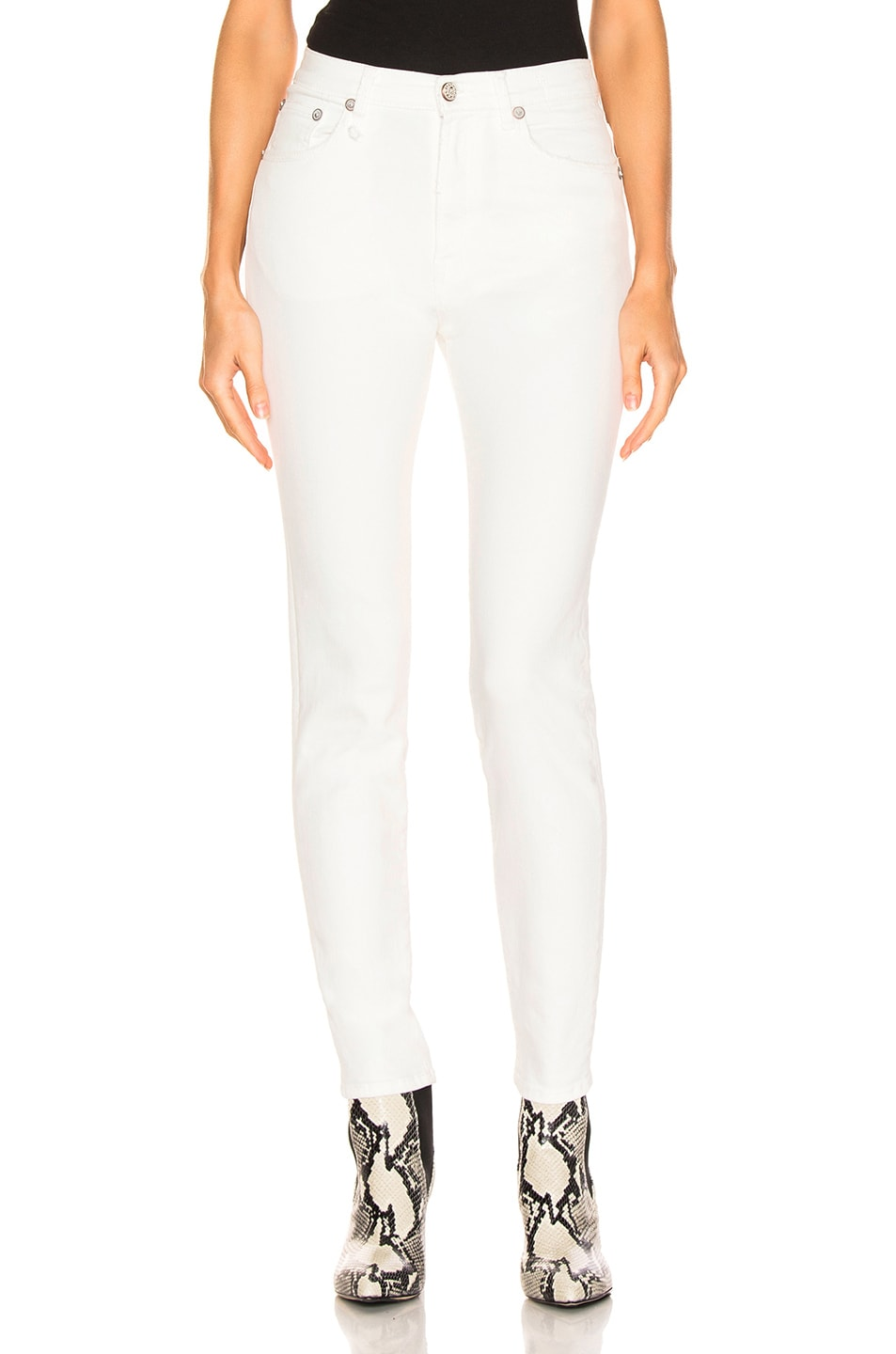 Image 1 of R13 Highrise Skinny in Garret White