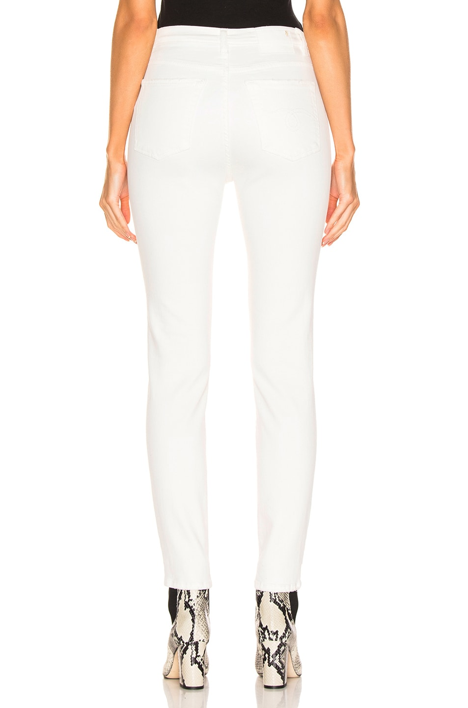 Image 3 of R13 Highrise Skinny in Garret White