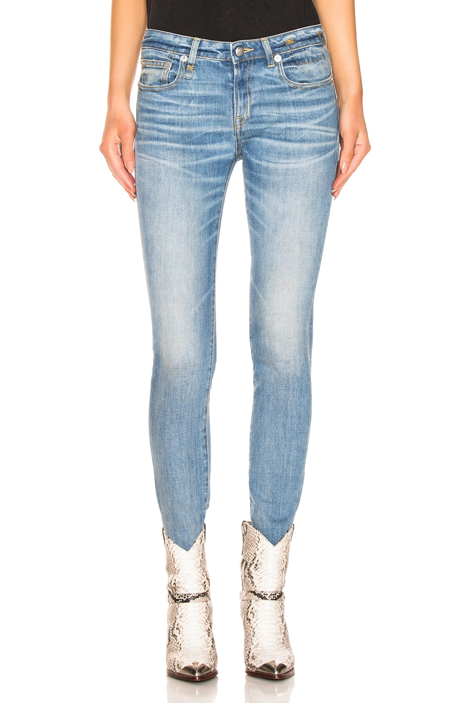 Image 1 of R13 Alison Skinny in Emil Clean
