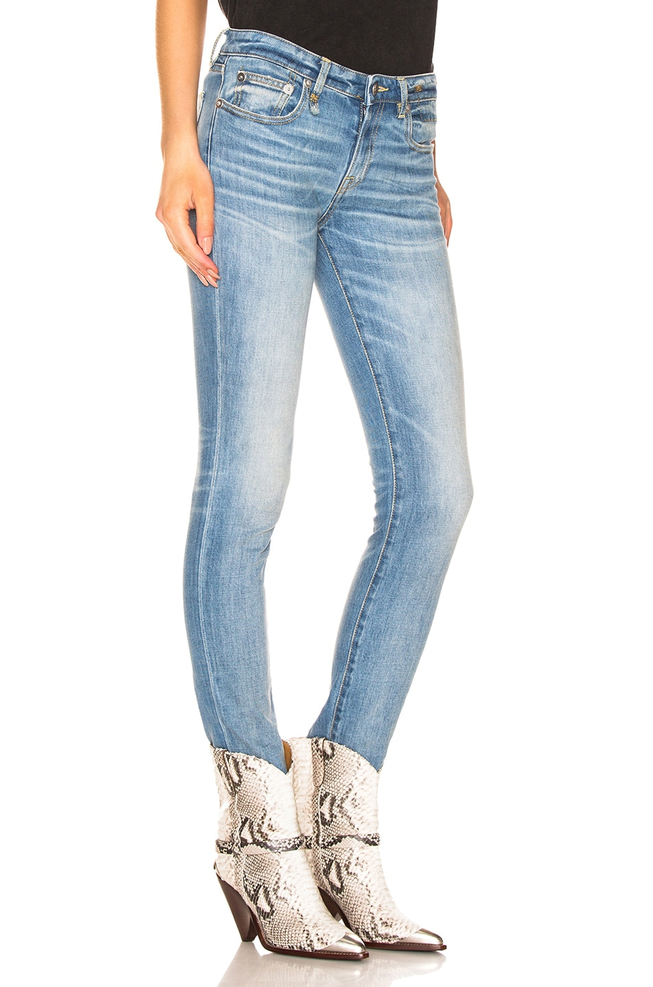 Image 2 of R13 Alison Skinny in Emil Clean