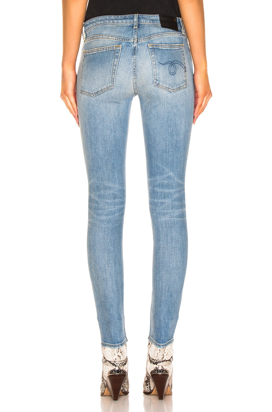 Image 3 of R13 Alison Skinny in Emil Clean