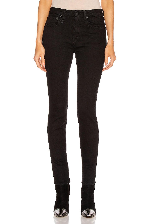 Image 1 of R13 Alison Skinny in Rinsed Black