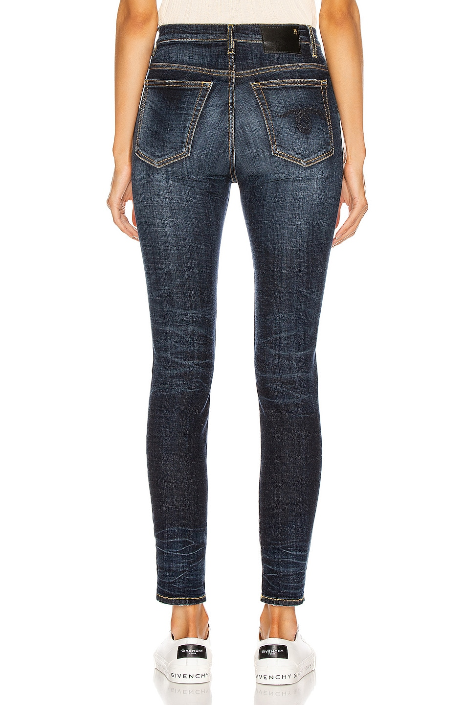 Image 3 of R13 High Rise Skinny in Howell Indigo
