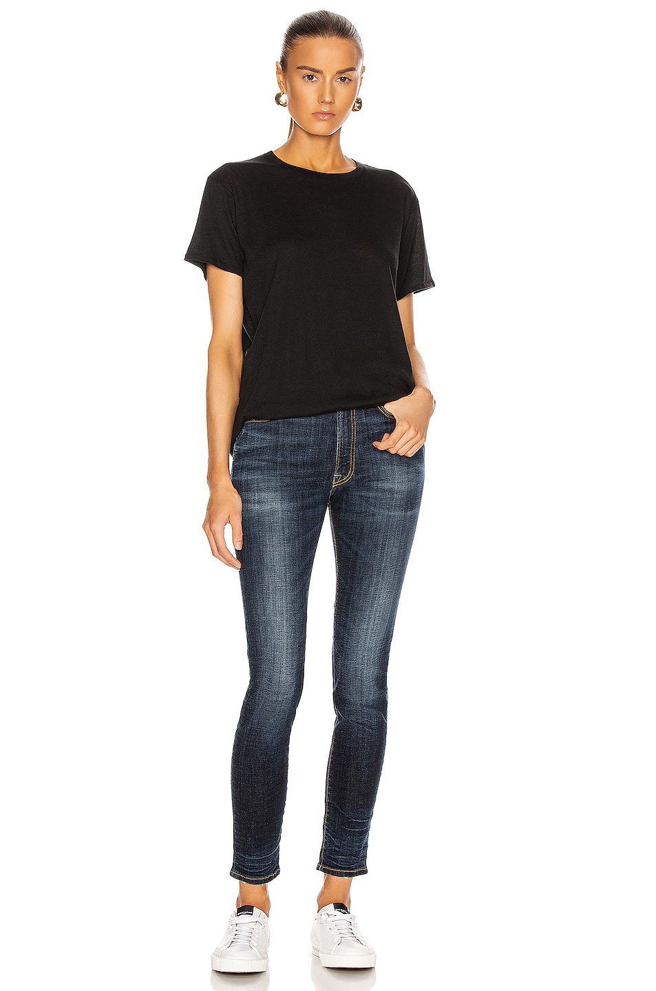 Image 4 of R13 High Rise Skinny in Howell Indigo