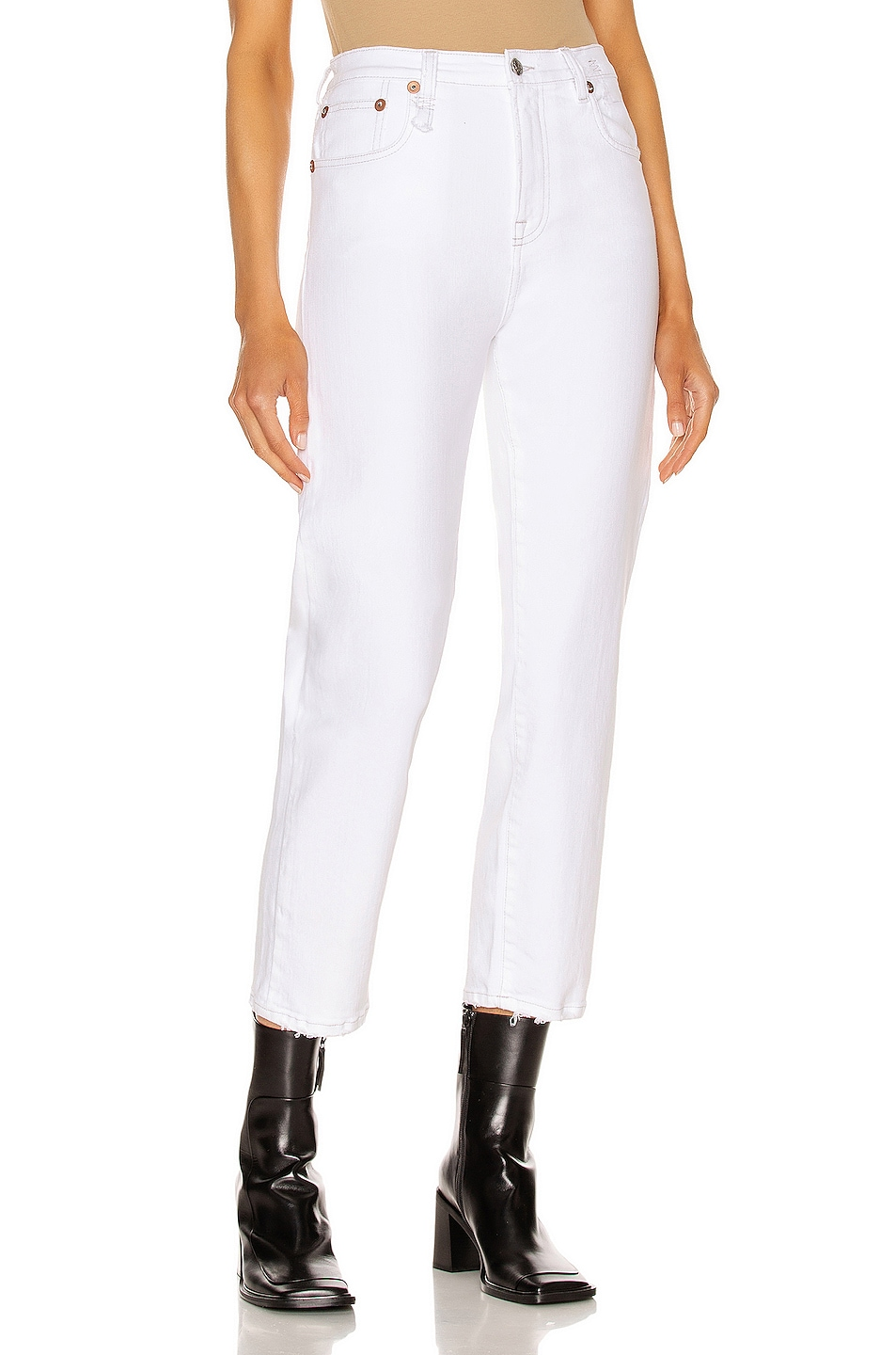 Image 1 of R13 Shelley Slim in Bale White