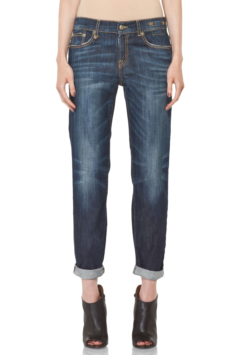 Image 1 of R13 Relaxed Skinny Jean in Dirty Dark