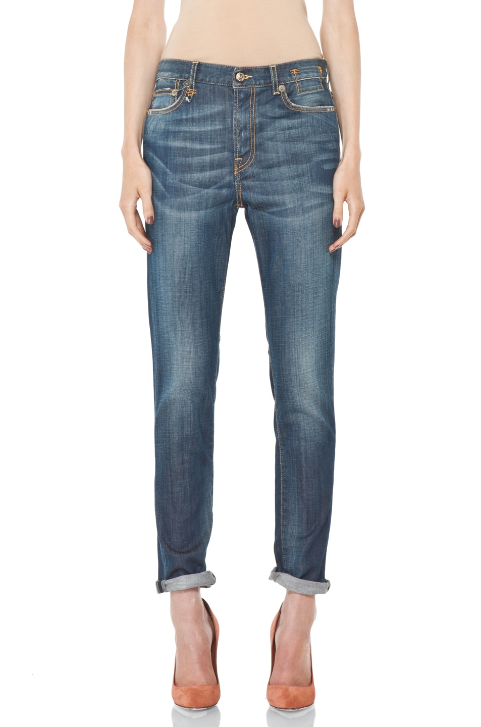 Image 1 of R13 Slouchy Skinny Jean in Blue