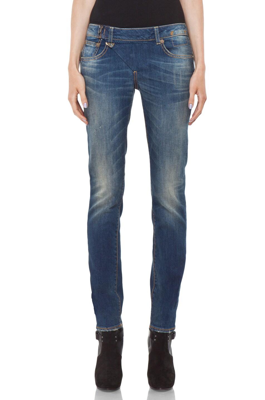 Image 1 of R13 Zip Skinny Jean in Medium Blue