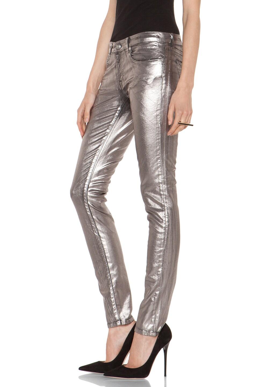Image 2 of R13 Skinny in Silver