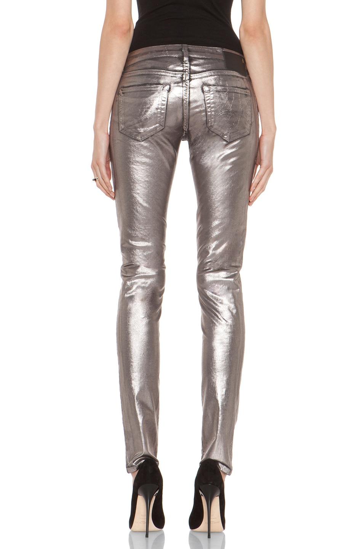 Image 4 of R13 Skinny in Silver