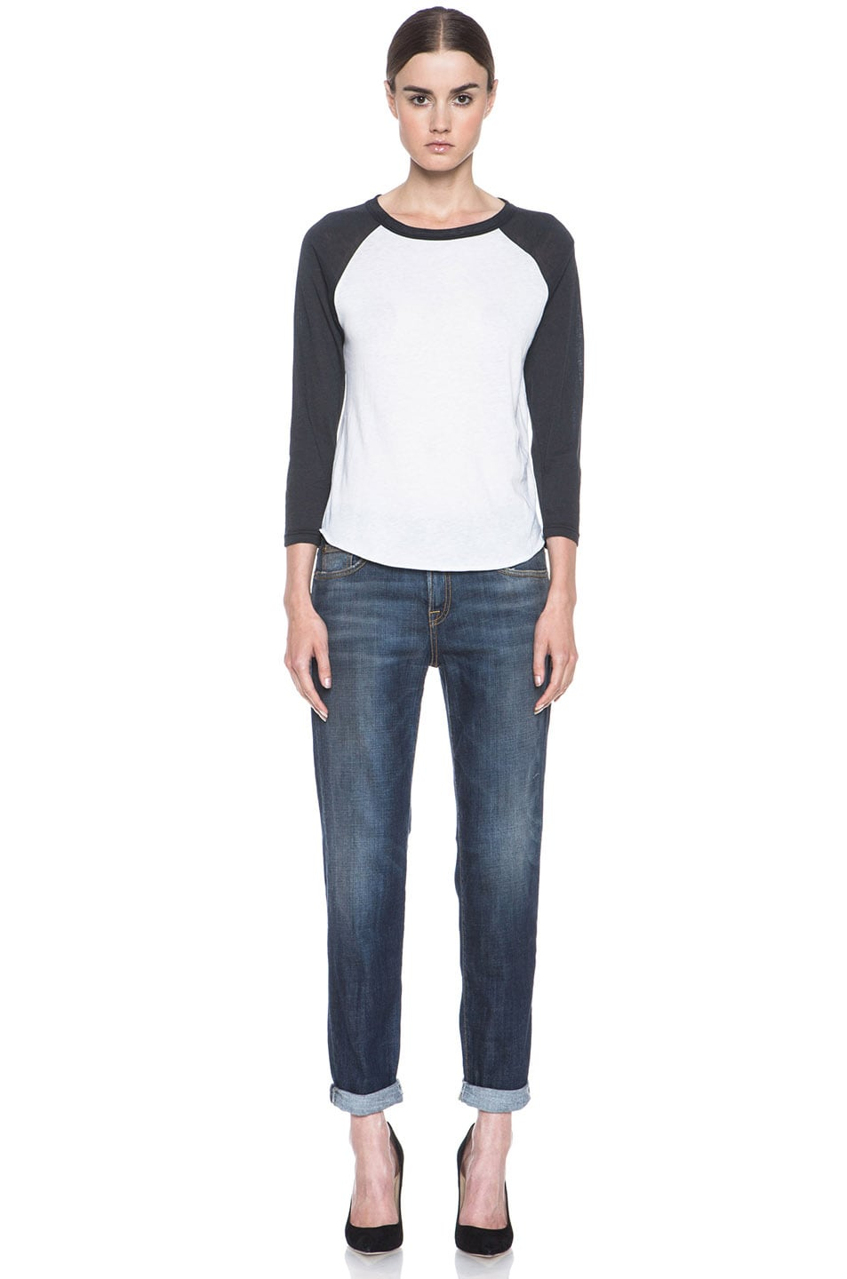 00211823445a94 Image 5 of R13 Relaxed Skinny Jean in Dark Blue