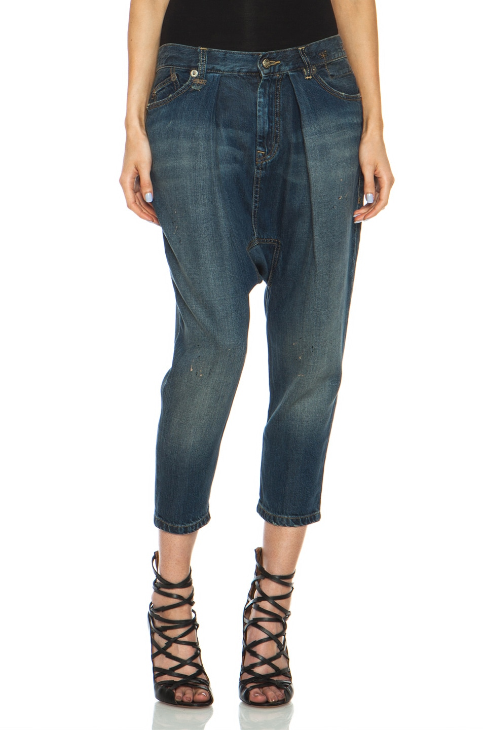 Image 1 of R13 Vintage Harem Jean in LC Blue