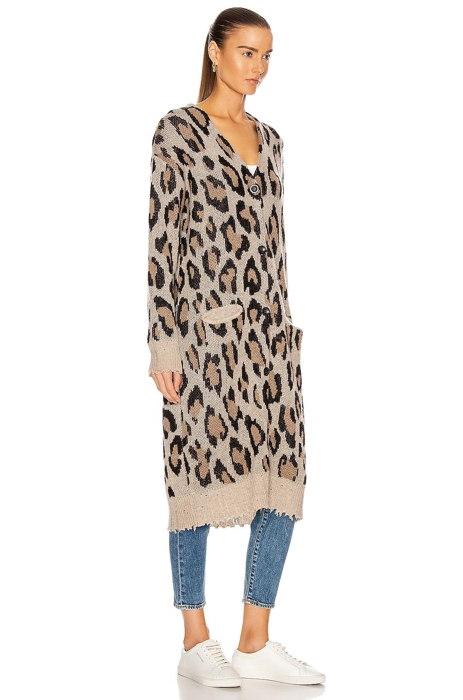 Image 3 of R13 Long Leopard Cardigan in Leopard