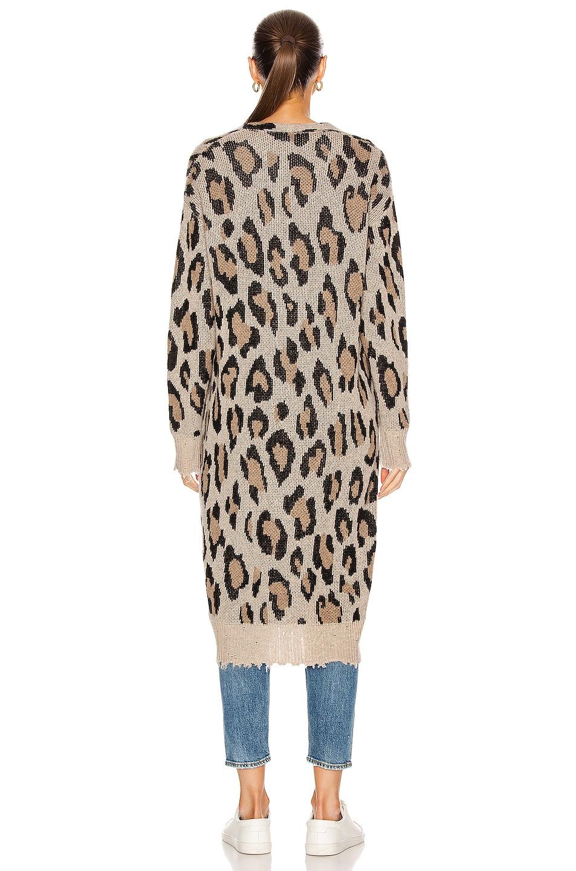 Image 4 of R13 Long Leopard Cardigan in Leopard