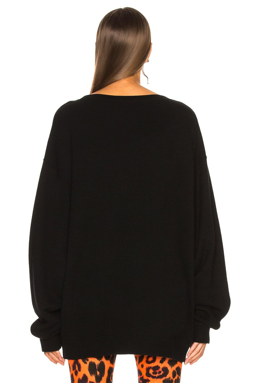 Image 4 of R13 Flaming Skull Sweatshirt in Black