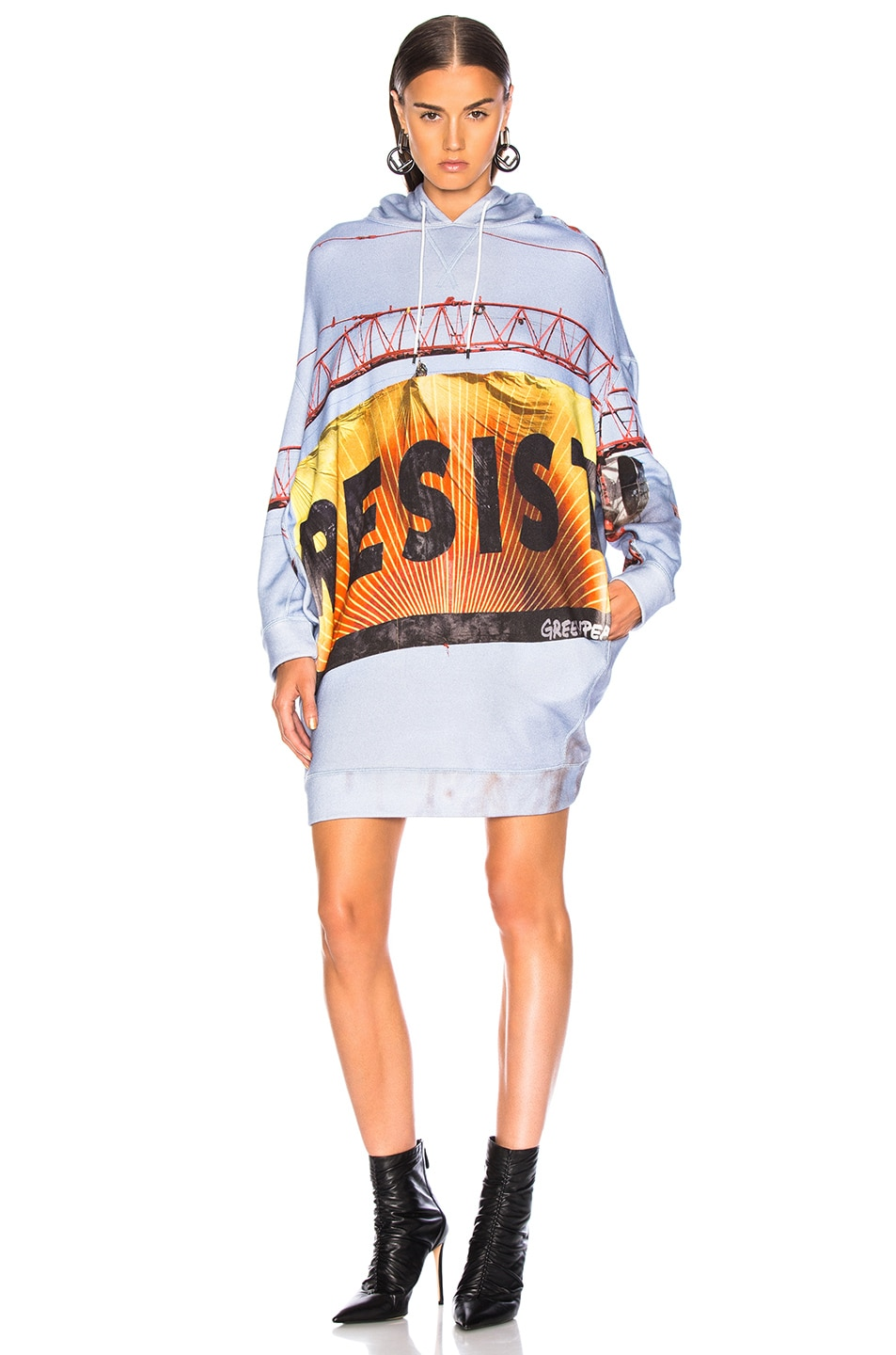 Image 2 of R13 Resist Grunge Hoodie in Multi
