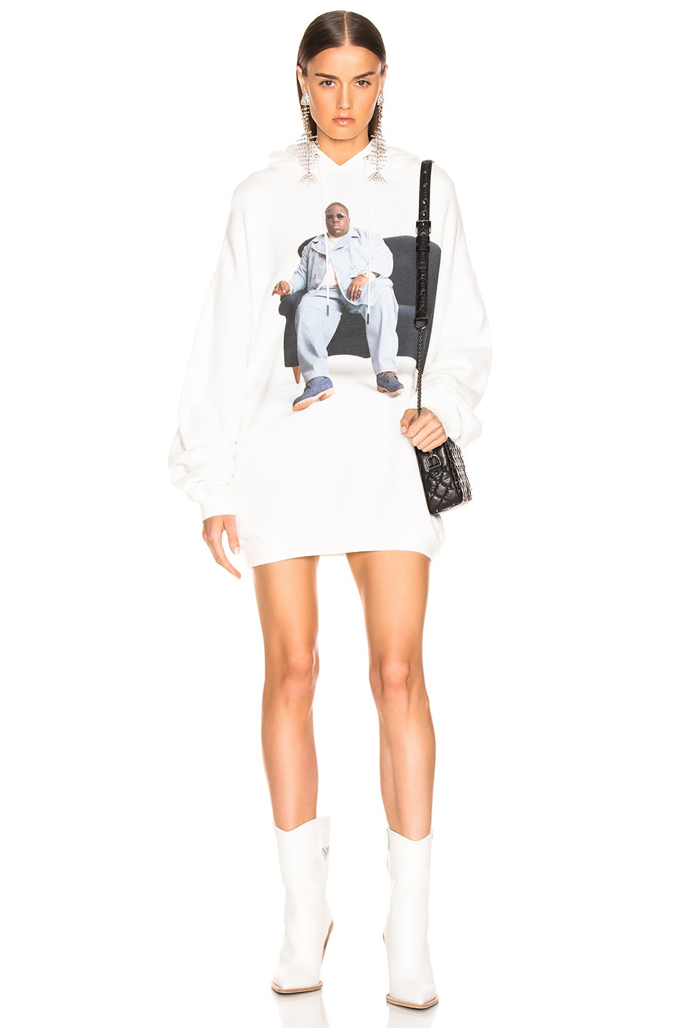 Image 1 of R13 Biggie Couch Hoodie in White