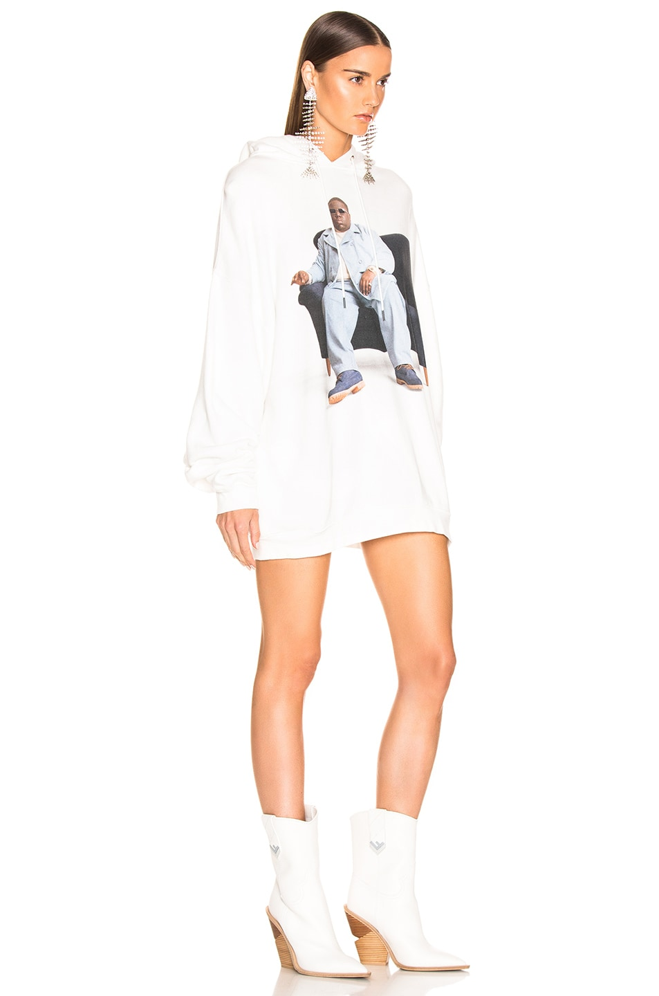 Image 2 of R13 Biggie Couch Hoodie in White