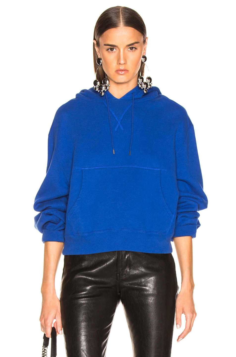 Image 1 of R13 Cropped Hoodie in Royal Blue