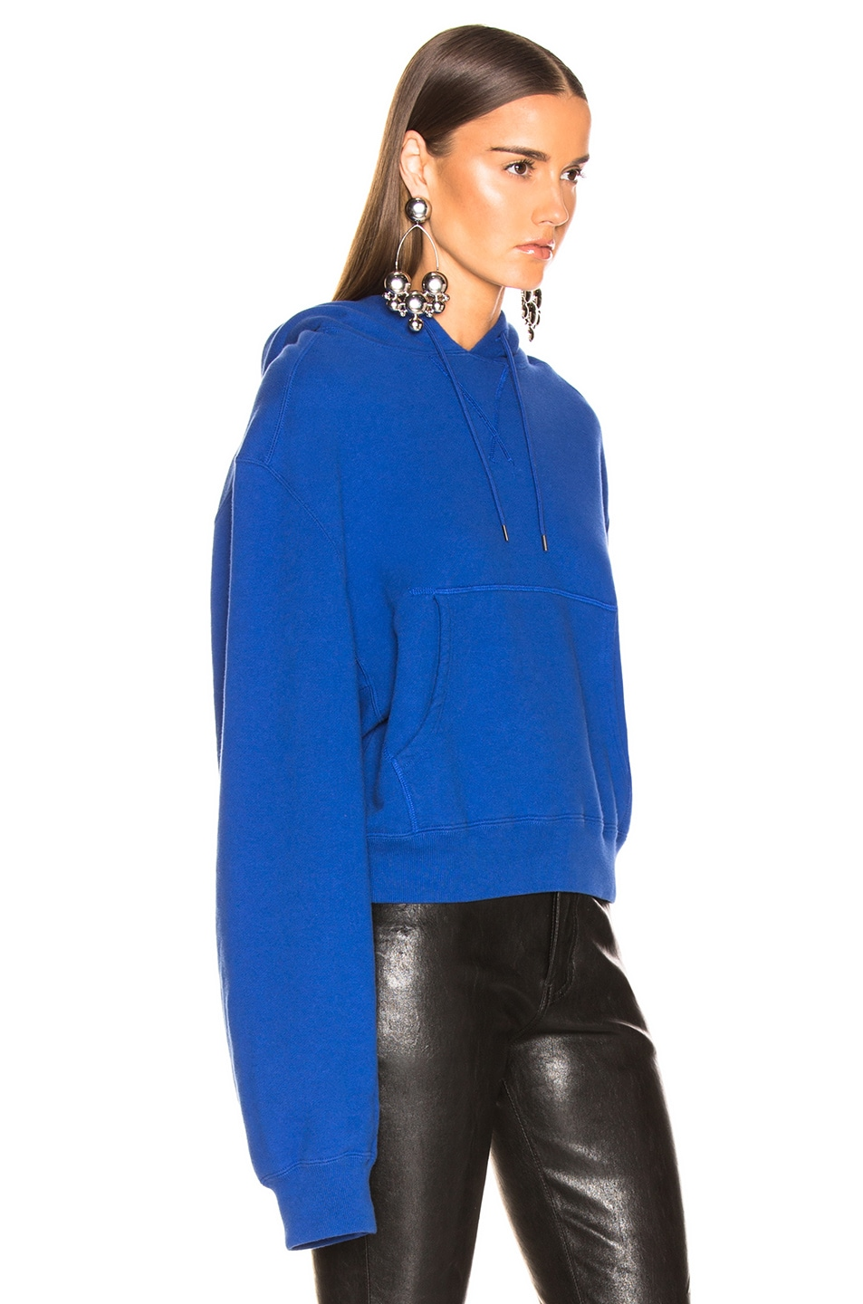 Image 2 of R13 Cropped Hoodie in Royal Blue