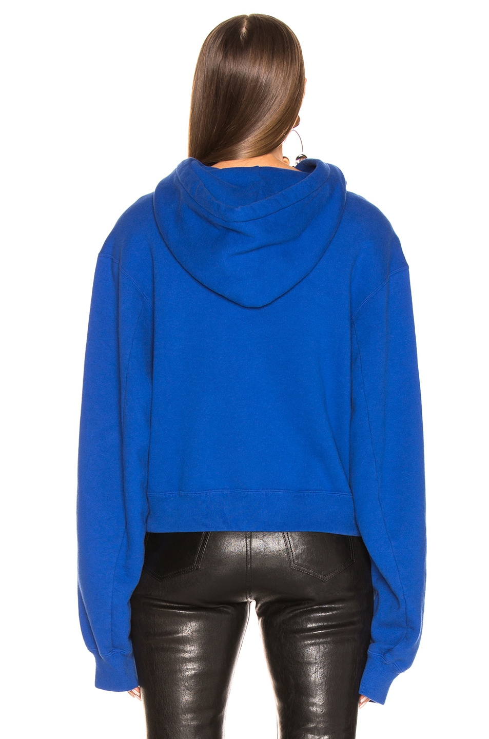 Image 3 of R13 Cropped Hoodie in Royal Blue