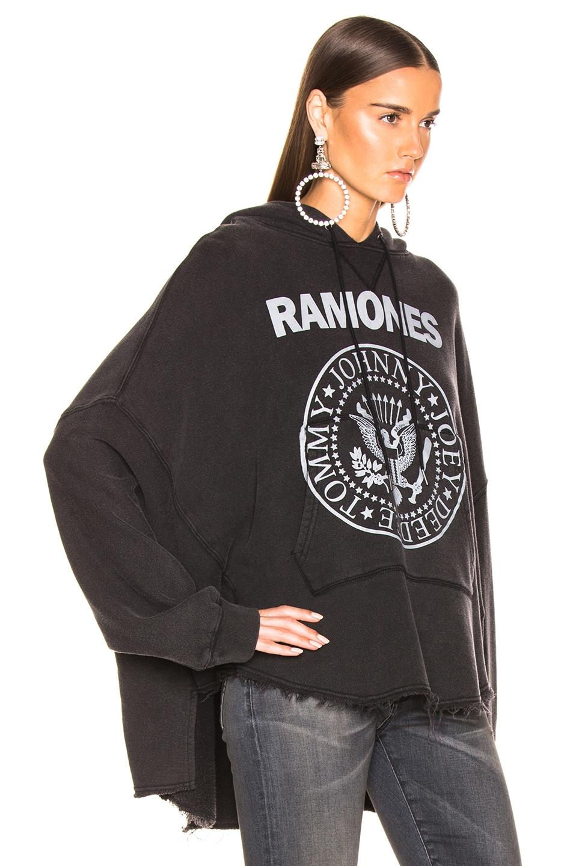 Image 2 of R13 Ramones Patti Hoodie in Acid Black
