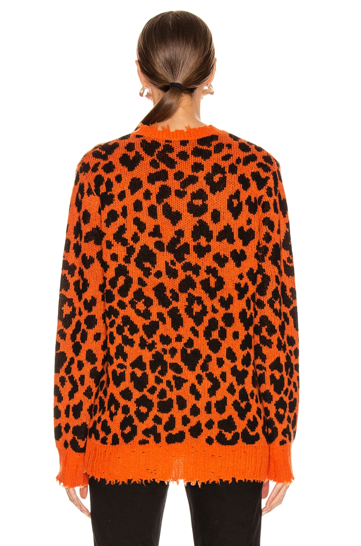 Image 3 of R13 Leopard Sweater in Orange Leopard
