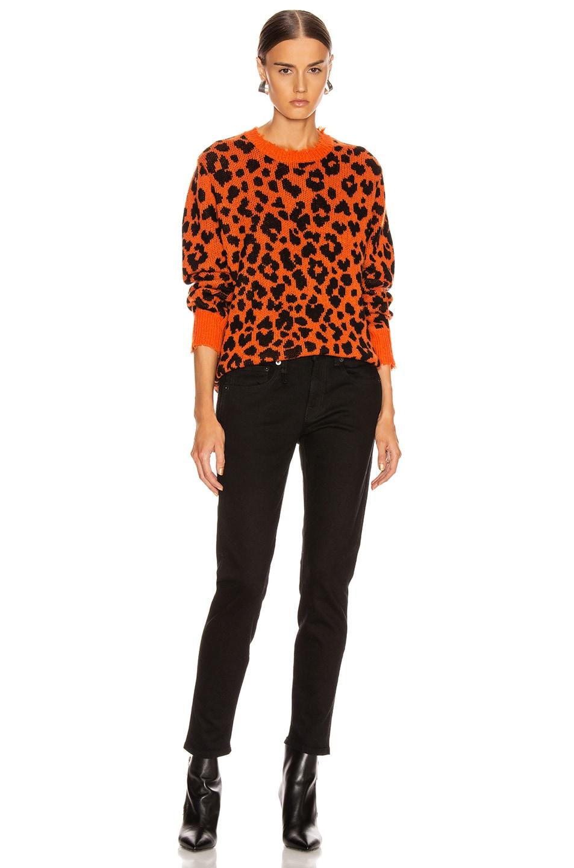 Image 4 of R13 Leopard Sweater in Orange Leopard