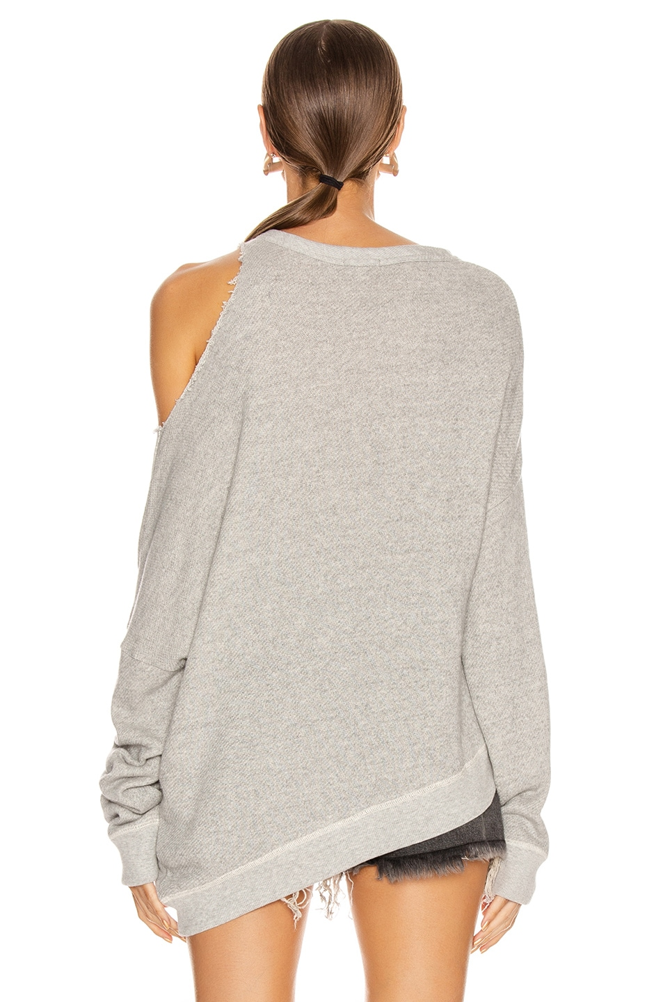 Image 4 of R13 Distorted Sweatshirt in Heather Grey