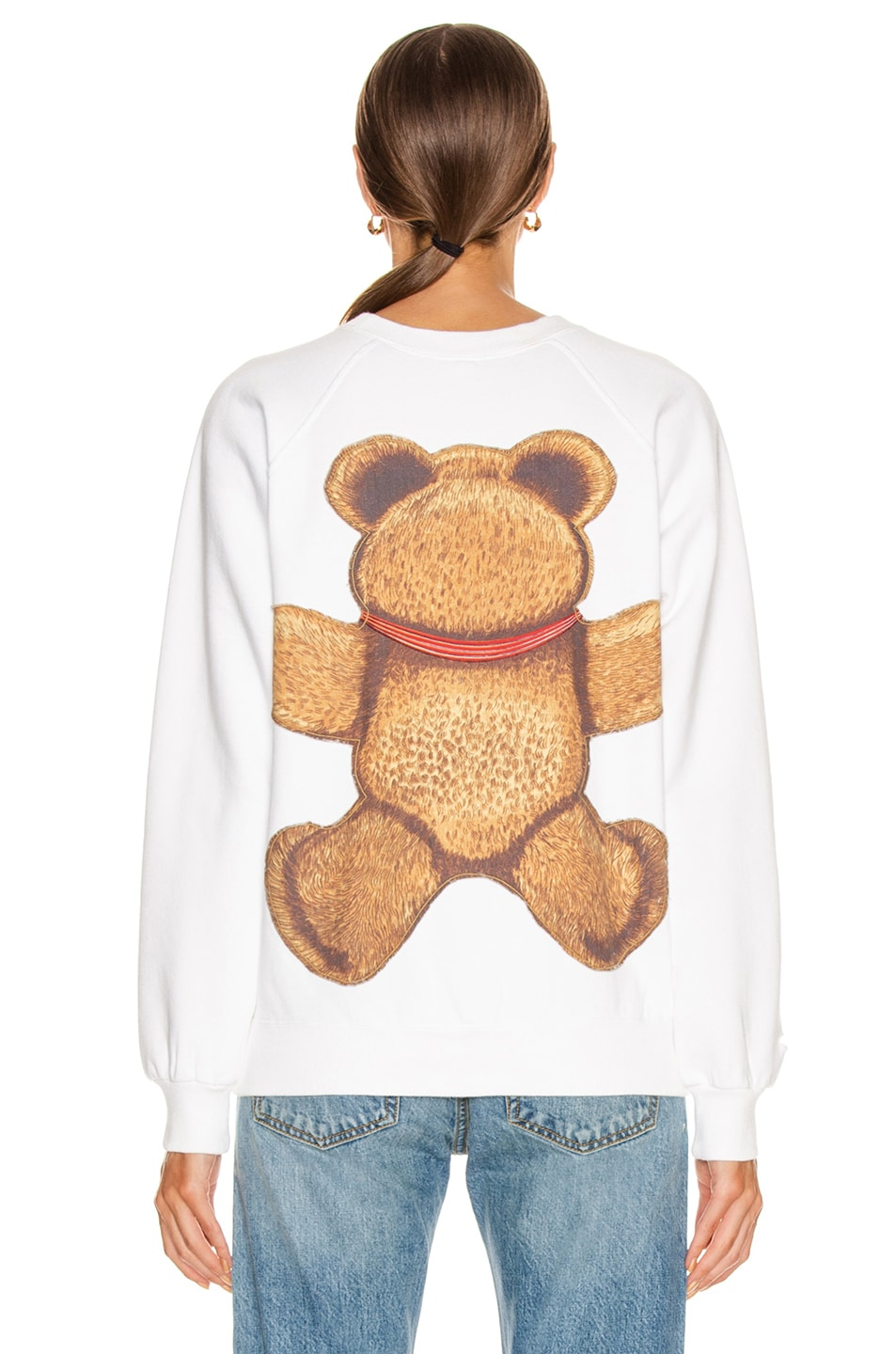 Image 3 of R13 Teddy Bear Crewneck Sweater in Dirty White